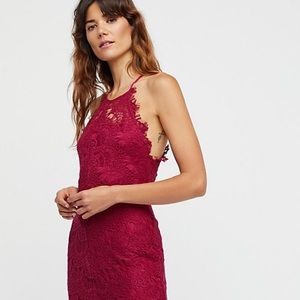 Maroon/Red Free People She Got It Dress